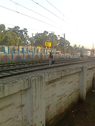 Barasat Junction railway station - Image: Barasat Rail Truck