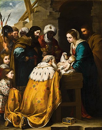 Epiphany (holiday) - Adoration of the Magi by Bartolomé Esteban Murillo, 17th century
