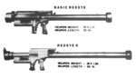 Basic Redeye and Redeye II weapon comparisons with dimensions.png