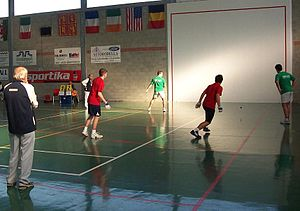 American handball - Basque Country vs. England, International Fronton championships, 2007.