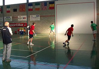 American handball - Basque Country vs. England, International Fronton championships, 2007.