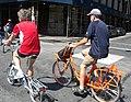 Batavus delivery bike n Brompton P Leonard Lafayette jeh.jpg