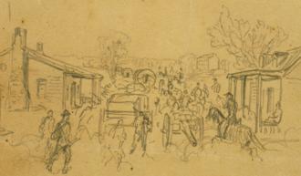 Battle of Big Bethel - Big Bethel Alfred R. Waud, artist, June 10, 1861.