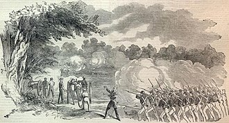 Battle of Boonville - The Battle of Boonville, Missouri, sketched by Orlando C. Richardson