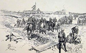 Battle of Ginnis - Image: Battle of Ginnis (1886), London News