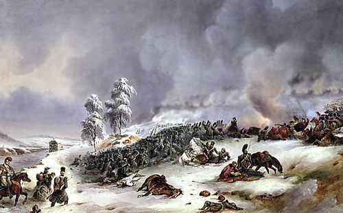 The 33rd regiment in carre in the battle of Krasny. Painting by Jean Antoine Simeon Fort Battle of Krasnoi 1812.PNG