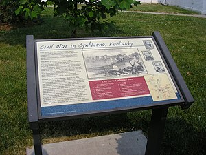 Battle of Cynthiana - Historic marker in Cynthiana