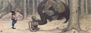 Stallo - An illustration from John Bauer's folktale Stalo and Kauras.