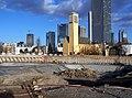 Baugrube Tower 185, Februar 2009.jpg