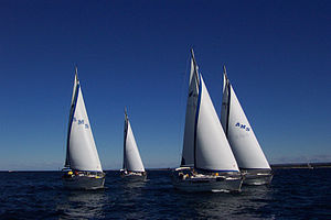 Bavaria Yachtbau - A small fleet of Bavaria yachts racing.
