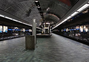 Bay/Enterprise Square station - Image: Bay Enterprise Square station platform