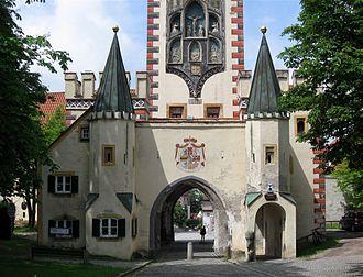 Landsberg am Lech - Bayertor, the gate to Munich