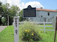 Beale Town Bound Blues Trail Marker Hernando MS 01.jpg