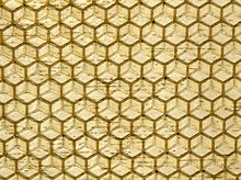 Bee Cells Glass