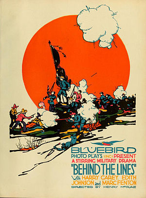 Behind the Lines (1916 film) - Film poster