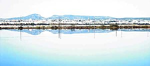 San Pedro del Pinatar, Spain - Town's view from the salt ponds