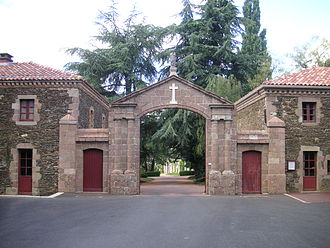 Bégrolles-en-Mauges - The main entrance to the Monastery of Belle Fontaine