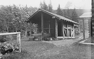 Belly River Ranger Station Historic District - Belly River Ranger Station woodshed