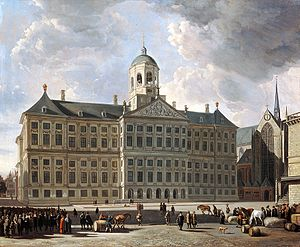 Gerrit Berckheyde - The new City Hall of Amsterdam, 1673