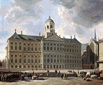 Andries de Graeff - Palace op de Dam - Seat of the Amsterdam Regent, by Gerrit Berckheyde