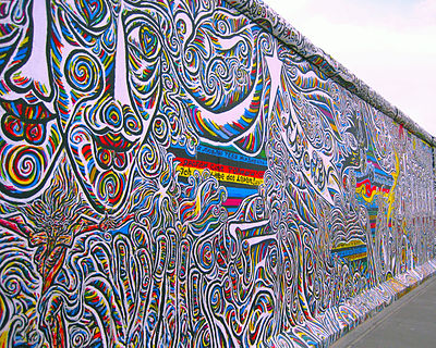 A remaining section of the Berlin Wall