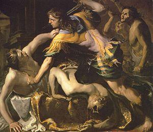 Bernardino Mei - Orestes Slaying Clytemnestra, 1655