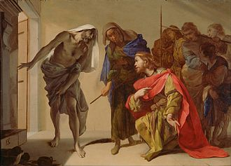 Bernardo Cavallino (Italian - The Shade of Samuel Invoked by Saul - Google Art Project.jpg