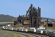 Bethlehem Steel's closed manufacturing facility in Bethlehem, Pennsylvania. This site will become the site of the new multi-million dollar Sands BethWorks casino in 2007.