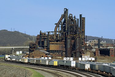 Bethlehem Steel, located along the Lehigh River in the Lehigh Valley, was once one of the world's largest manufacturers of steel; it closed in 2003.