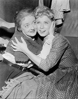 Cindy Robbins - Robbins with Bette Davis in Wagon Train, 1959