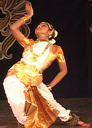 A traditional Bharata natyam performance