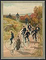 Bicycling - Hy Sandham ; aquarelle print by L. Prang & Co. LCCN94508307.jpg