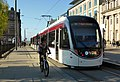 Bike and Edinburgh Tram 263 St Andrew Square.jpg