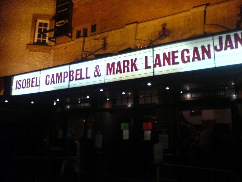 Billing for an Isobel Campbell - Mark Lanegan gig