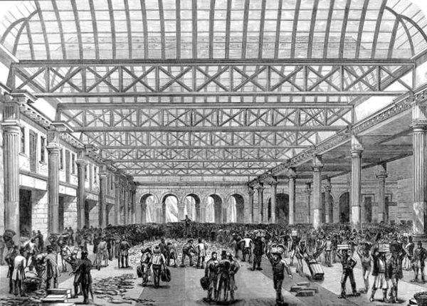 Billingsgate Fish Market. Interior ILN 1876
