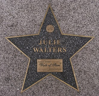 Julie Walters - Star at the Birmingham Walk of Stars