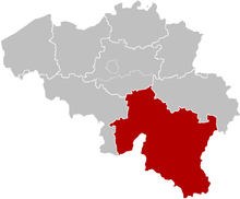 The Diocese of Namur, coextensive with the two provinces of Namur and Luxembourg