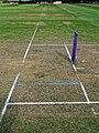 Bishop's Stortford Cicket Club wicket and stumps, Hertfordshire 1.jpg