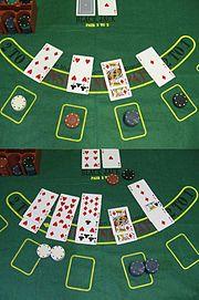 Przykład gry w blackjacka.