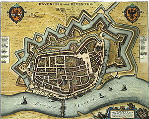 Deventer - 1652 map of Deventer by Willem and Joan Blaeu