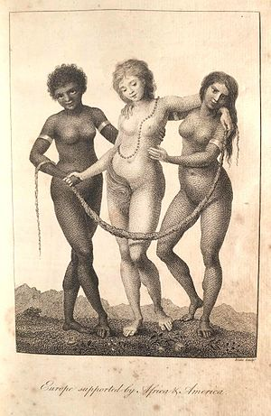 "Metaphysical poets - ""Europe supported by Africa and America"", William Blake, 1796"