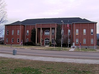 National Register of Historic Places listings in Tennessee - Image: Bledsoe county tennessee courthouse 1