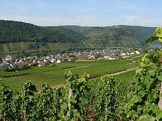 Neumagen-Dhron - Image: Blick auf den Ortsteil Neumagen mit der Lage Neumagener Engelsgrube