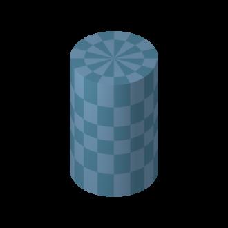 Bore (wind instruments) - Image: Blue cylinder