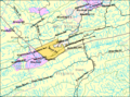 Bluefield WV 2000 Census reference map.png