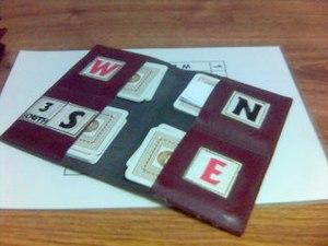 Board (bridge) - Leather or pliable plastic wallet-style board