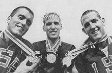 Bob Bennett, Jed Graef, Gary Dilley 1964.jpg