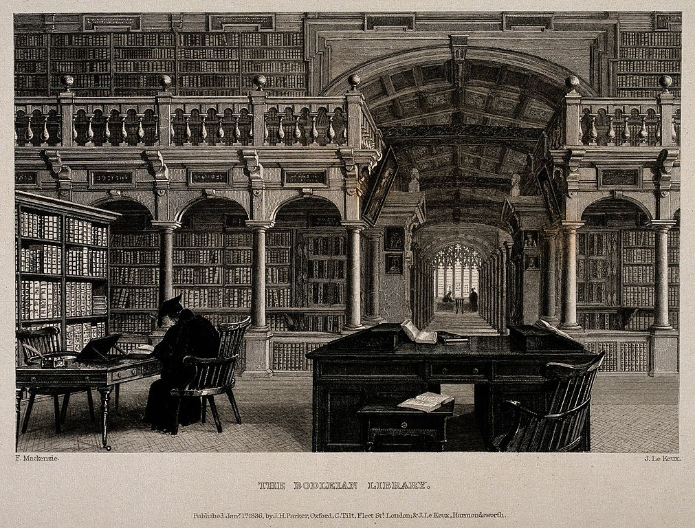 File Bodleian Library Oxford Interior Showing Study