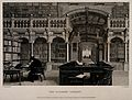 Bodleian Library, Oxford; interior showing study desks. Line Wellcome V0014204.jpg