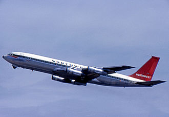 Northwest Airlines - Boeing 707-351B at San Francisco in 1970